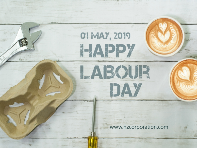 Happy Labour Labor Day Cafe Coffee Cup Holder Carry Carrier Tray Paper Pulp Molded HZ Barista latte art mocha cappuccino
