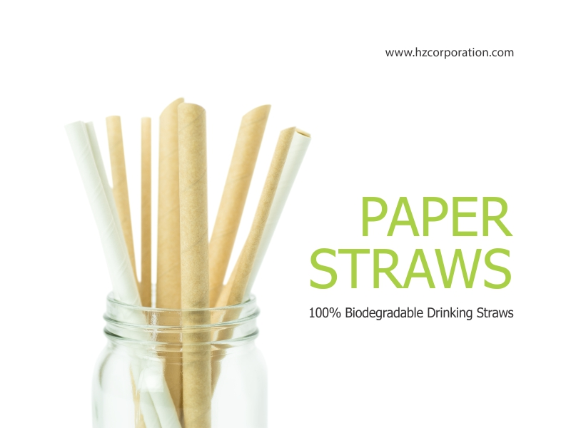 100% Biodegradable Drinking Straws
