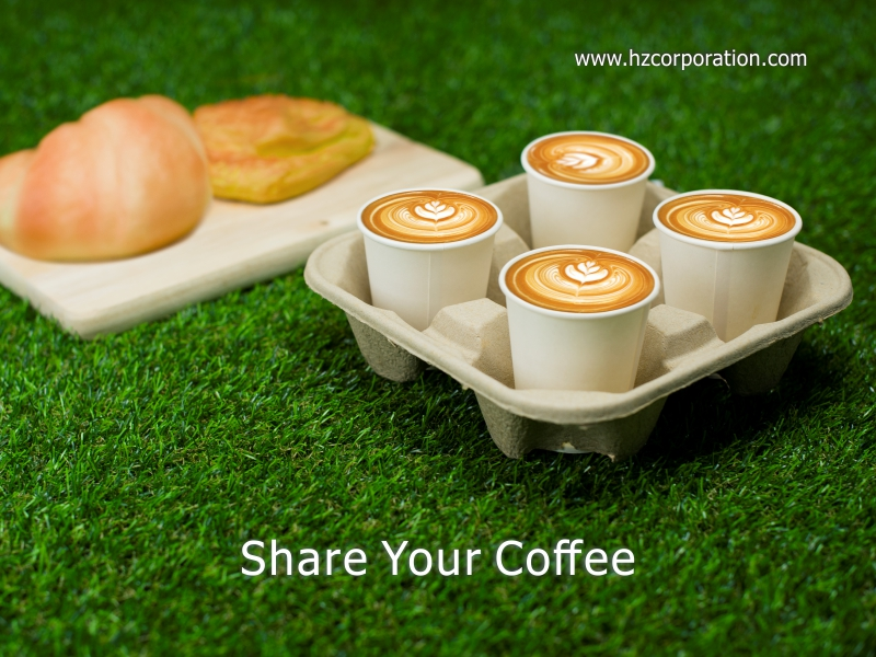 Takeaway Coffee Cup Carry Trays, Manufacturer & Distributor, Disposable Kraft Paper Cup Base Handle Holder, Paper Cup Holder, Cup Carry Tray, paper cup tray, paper cup holder, Cardboard Coffee Cup Carry Tray
