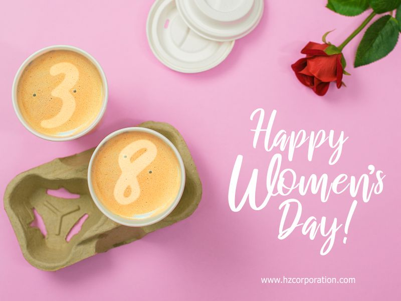 International happy Women's Day Press For Progress iwd 2020 Cafe Coffee Cup Holder Carry Carrier Tray Paper Pulp Molded HZ barista