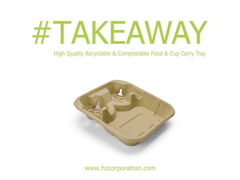 Food Tray With Cup Holder