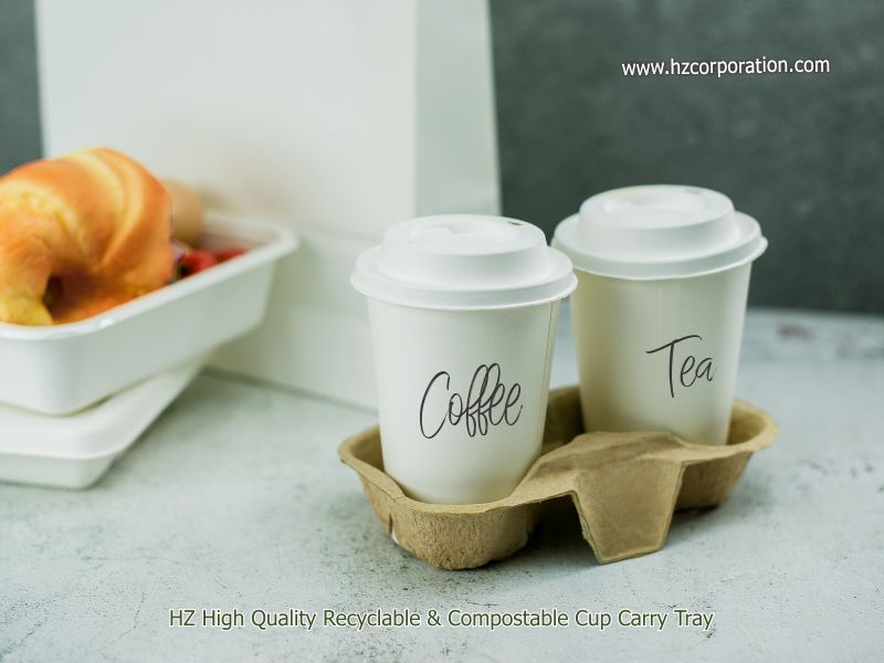 beverage, cafe, carry tray, coffee, Cups, delivery, hot drinks, iced drink, restaurant, soft drinks, takeaway, tea