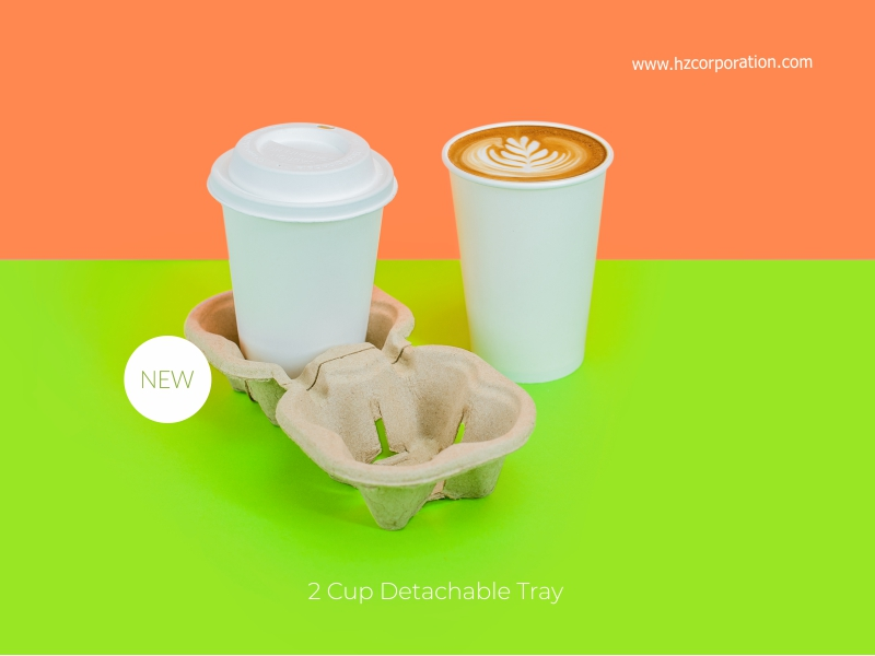 2 Cup Detachable Tray